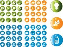 Vector mooie pictogramreeks Stock Afbeeldingen