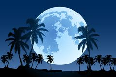 Vector moon stock illustration