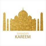 Vector Moon Lightning Triangle Background with Ramadan Kareem Greetings. Royalty Free Stock Image