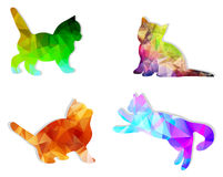 Vector mosaic  cats Stock Images