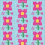 Vector mosaic flower Stock Photo