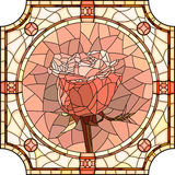 Vector mosaic of flower pink rose. Stock Photo