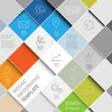 Vector mosaic infographic template stock illustration