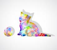 Vector mosaic kitten Stock Image
