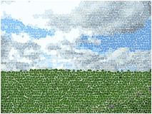 Vector mosaic landscape Royalty Free Stock Images