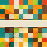 Vector mosaic retro background Royalty Free Stock Photo