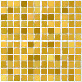 Vector mosaic tiles gold color stock illustration