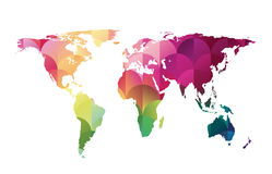 Vector mosaic world map Stock Images