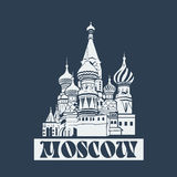 Vector Moscow Saint Basil's Cathedral Royalty Free Stock Photos