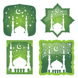 Vector Mosque And Star Stock Images