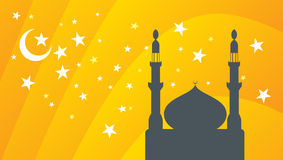 Vector mosque and star Royalty Free Stock Images