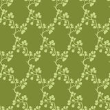 Vector Moss Green Kimono Branches Silhouette Royalty Free Stock Photography