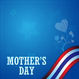 Vector mother day concept and frame thailand flag background Stock Image