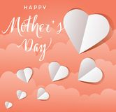 Vector Mother`s Day Flying Hearts Card Stock Photography