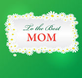 Vector mothers day background with daisies Royalty Free Stock Photo