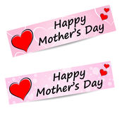 Vector mothers day banners Royalty Free Stock Photos