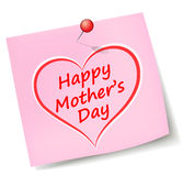 Vector mothers day note Royalty Free Stock Images