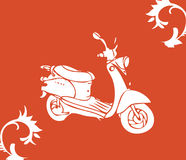 Vector moto bike. Card poster royalty free illustration