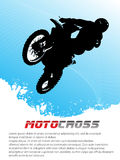 Vector motocross. Background. Clip-art Royalty Free Stock Images
