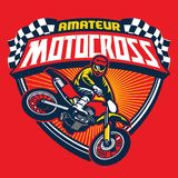 Motocross event badge Royalty Free Stock Image