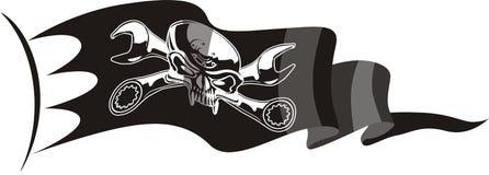 Vector motor Jolly Roger flag Royalty Free Stock Photography