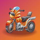 Vector motor tricycle. vector illustration