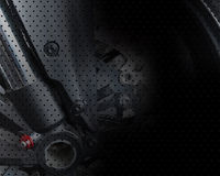 Vector motor wheels visual background Stock Photo