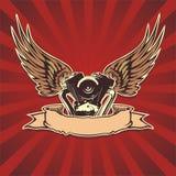 Vector motorbike wallpaper Royalty Free Stock Photo