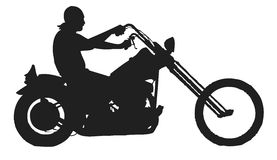 Vector motorcycle Stock Photography