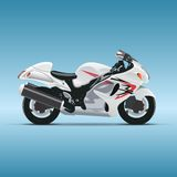 Vector motorcycle on blue background Royalty Free Stock Photography