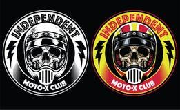 Motorcycle club badge royalty free illustration