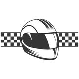 Vector motorcycle helmet. Sport, cross and racer helmet icon Royalty Free Stock Images