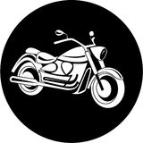 Vector motorcycle icon Stock Image