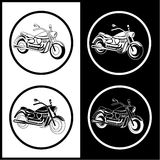 Vector motorcycle icons Royalty Free Stock Photos