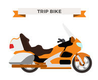 Vector motorcycle illustration. Moto bike  Royalty Free Stock Photography