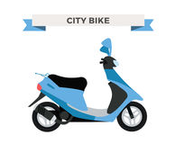 Vector motorcycle illustration. Moto bike  Royalty Free Stock Photo