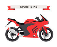 Vector motorcycle illustration. Moto bike  Royalty Free Stock Images