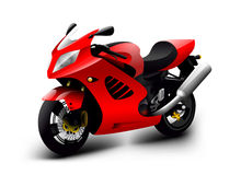 Vector motorcycle illustration Stock Photos