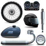Vector Motorcycle Spares Icons Royalty Free Stock Images