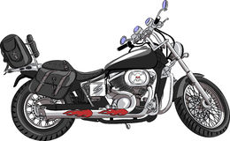 Vector motorcycle Royalty Free Stock Image