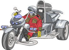 Vector motorcyclist. Royalty Free Stock Images