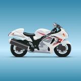Vector motorfiets op blauwe achtergrond Royalty-vrije Stock Fotografie