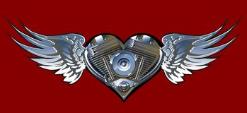Vector Motorheart 1 Royalty Free Stock Photography