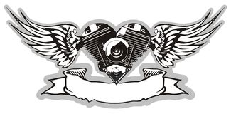 Vector Motorheart 2 Royalty Free Stock Images