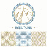 Vector mountain design kit Stock Photos