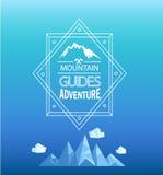 Vector mountain emblem. Royalty Free Stock Photos