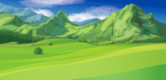 Vector of mountain landscape Royalty Free Stock Photo