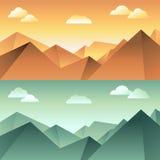 Vector mountain landscape Stock Image