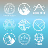Vector mountain logos and emblems Stock Image