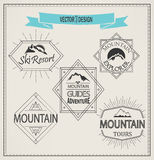 Vector mountain logos and emblems Stock Photography